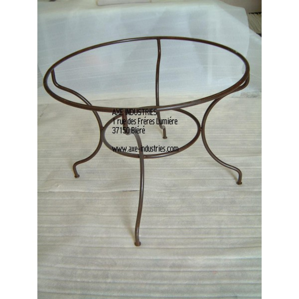 Table zellige fer forg rabat tables zellige et pied - Table pied fer forge plateau bois ...