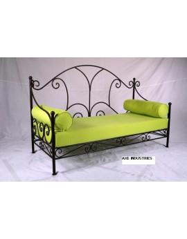 Canapé Marguerite en fer forgé 1.60m x 0.60m avec assise comprise