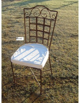 Chaise fer forgé Modèle Romance avec assise