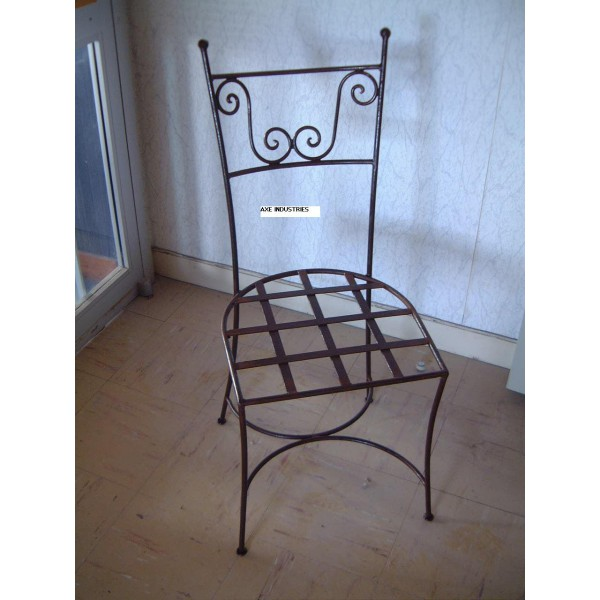 Chaise en fer forg mod le cassius chaise fer forge noir for Chaise en fer forge