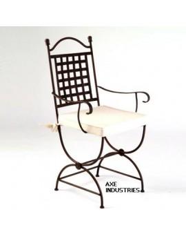 Chaise en fer forgé modèle Margot avec assise