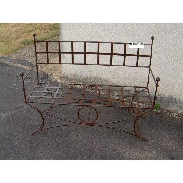 banc en fer forg fauteuil fer forg axe industries. Black Bedroom Furniture Sets. Home Design Ideas