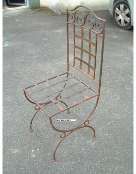Chaise  fer forgé plein Camargue AVEC COUSSIN