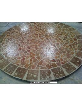 Table ronde en pierres naturelles modèle Avignon