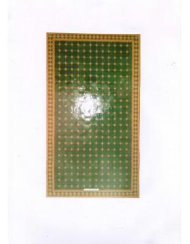 Table rectangulaire avec pied fer forgé simple et plateau zellige