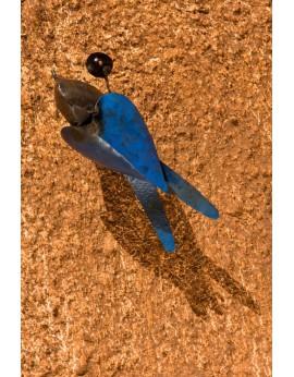 Hirondelles à ailes bleus en métal