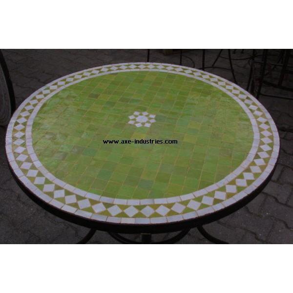 table zellige fer forg marrakech tables zellige et pied fer forg axe industries. Black Bedroom Furniture Sets. Home Design Ideas