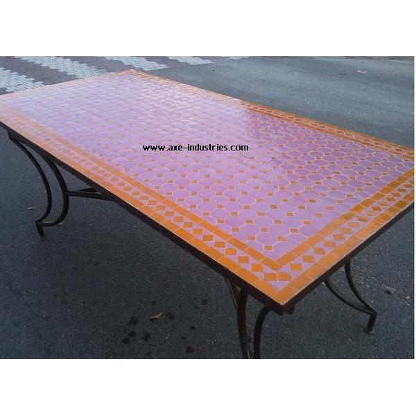 table zellige fer forg k nitra tables zellige et pied fer forg axe industries. Black Bedroom Furniture Sets. Home Design Ideas