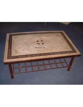 Table basse zellige/ fer forgé Sahara