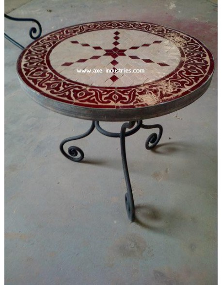 table basse zellige fer forg perceval tables zellige et pied fer forg axe industries. Black Bedroom Furniture Sets. Home Design Ideas