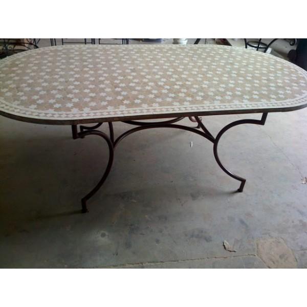 table zellige fer forg cannes tables zellige et pied fer forg axe industries. Black Bedroom Furniture Sets. Home Design Ideas