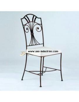 Chaise en fer forgé modèle Duchesse avec assise