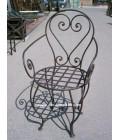 Chaise en fer forgé modéle Casablanca avec assise déhoussable