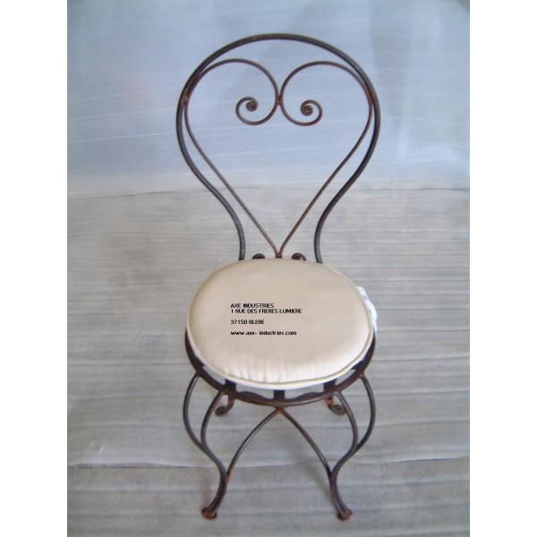 chaise en fer forg modle arabesque avec assise - Chaise En Fer