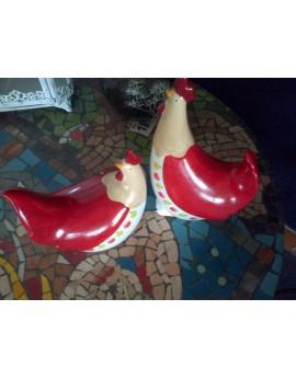 Lot de 2 poules