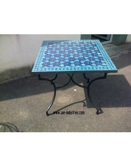Table zellige/fer forgé Kaciopée
