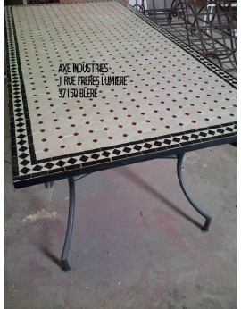 Table zellige/fer forgé Vicomte