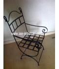 Chaise en fer forgé modèle Arthur livrée avec assise déhoussable