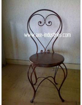 Chaise fer forgé + bois Bastia