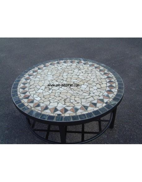 Table basse pierres naturelles mod le bl r tables en pierres naturelles et pied fer forg - Modele table basse ...