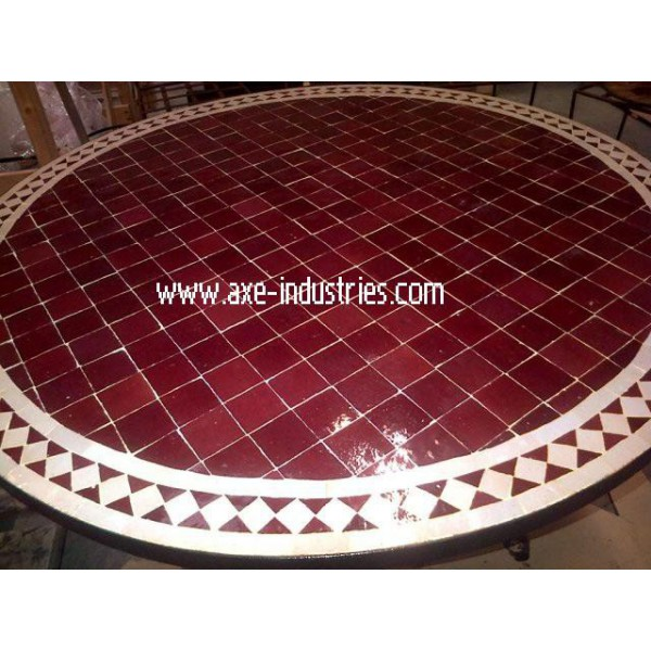 table zellige fer forg sal tables zellige et pied fer forg axe industries. Black Bedroom Furniture Sets. Home Design Ideas