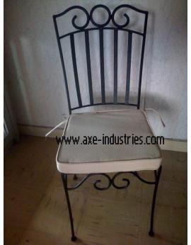 Chaise fer forgé Arthémis