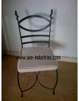 Chaise fer forgé Marius