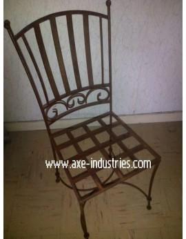 Chaise en fer forgé plein Antoinette AVEC COUSSIN