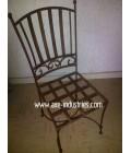 Chaise en fer forgé modèle Antoinette avec assise