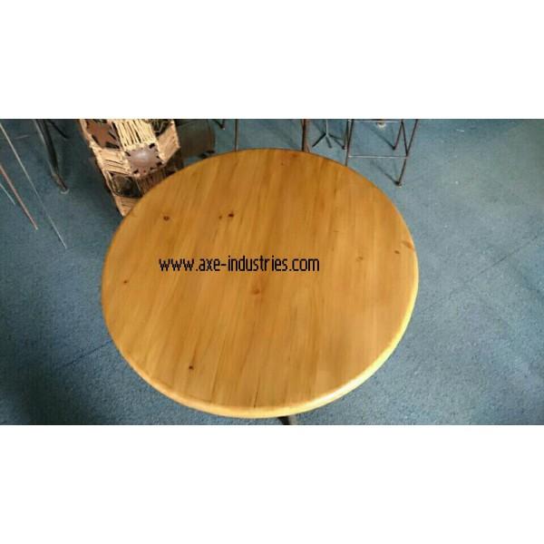 Table basse bois et fer forg meubles bois et fer forg axe industries - Table basse en fer et bois ...