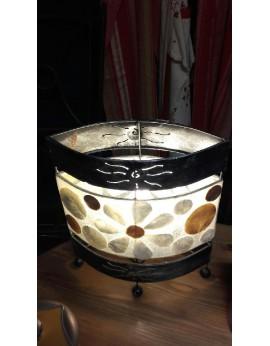 Lampe rectangulaire rond de nacre