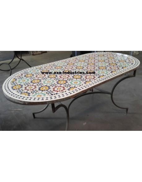 Table zellige ovale Mélisse