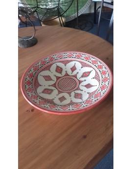 Grand plat rond artisanal