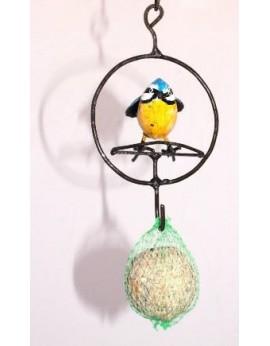Porte boule graisse anneau 1 oiseau