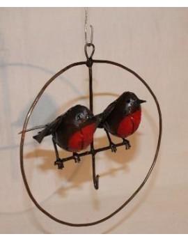 Porte Boule graisse Cercle 2 oiseaux