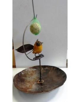 Porte boule de graisse abreuvoir 1 oiseau