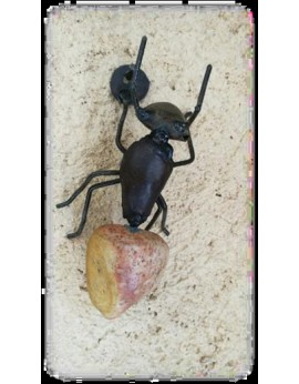 Petite fourmi  pierre/métal 10 cm