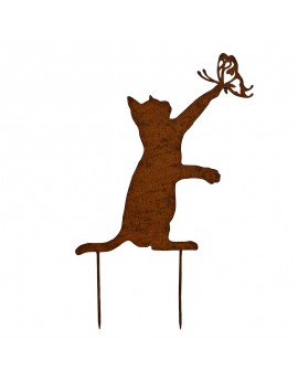Silhouette chat métal