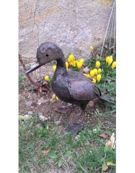 Canard en métal recyclé