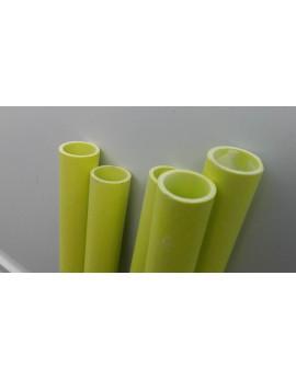 Tube  fibre de verre jaune   25 x 20 mm  en longueur  de 1m40