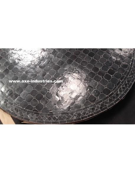 Table zellige /fer forgé Faro 120 cm