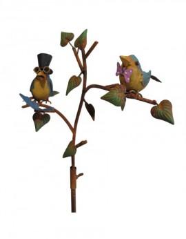 Pluviomètre  oiseaux colorés