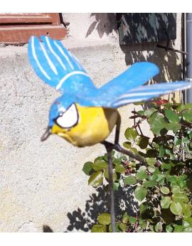 Tuteur  mésange peinte en vol