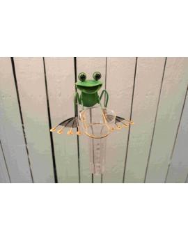 Pluviomètre grenouille