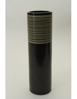 Vase tubulaire en céramique lissée 6371