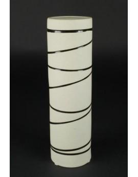 Vase tubulaire en céramique naturelle 6391
