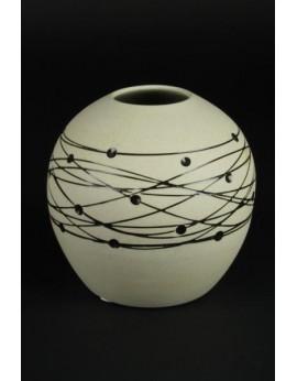 Vase boule en céramique naturelle 6251