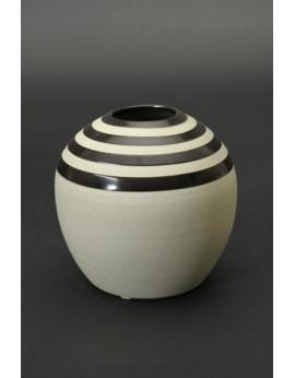 Vase boule en céramique naturelle 6791