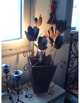 Lampe métal Tulipes