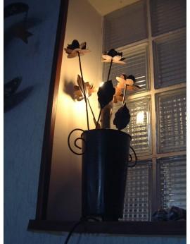 Lampe métal Roses